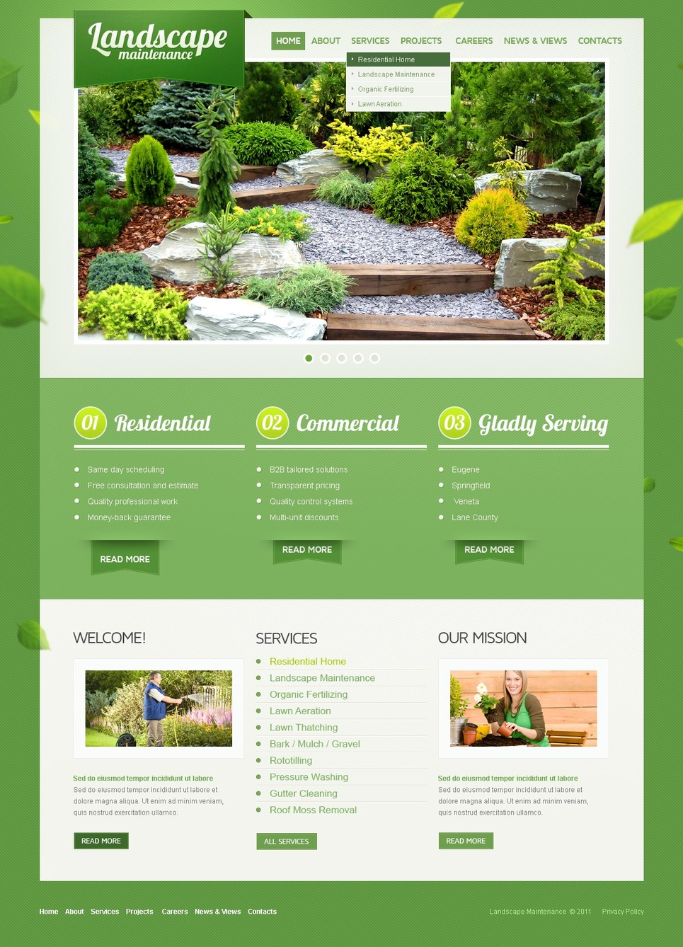 Landscape design website template web design templates for Landscape design site