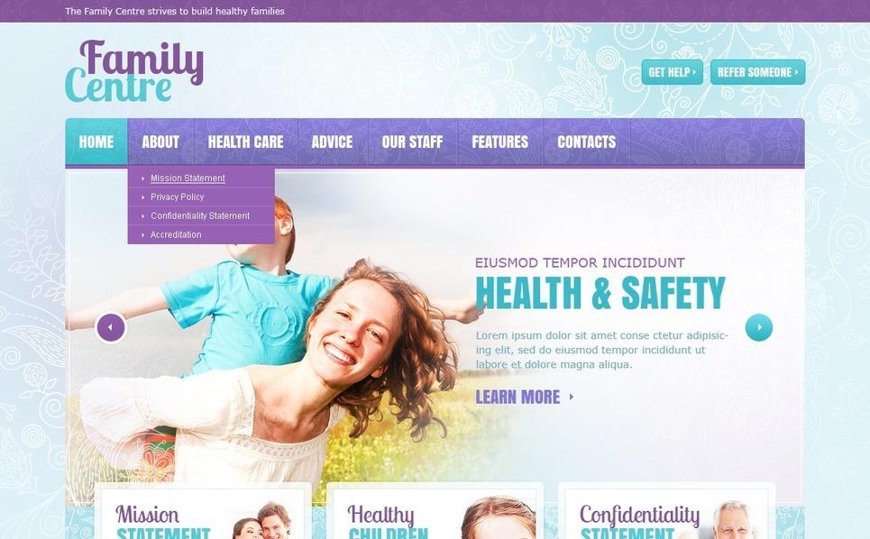Family Center Website Template New Screenshots BIG