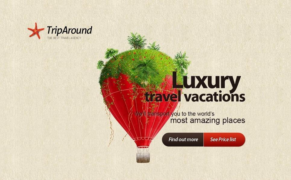 Travel Agency Flash Template New Screenshots BIG