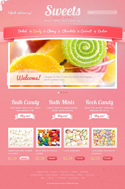 Sweets - Flavourous Sweet Shop Magento Theme