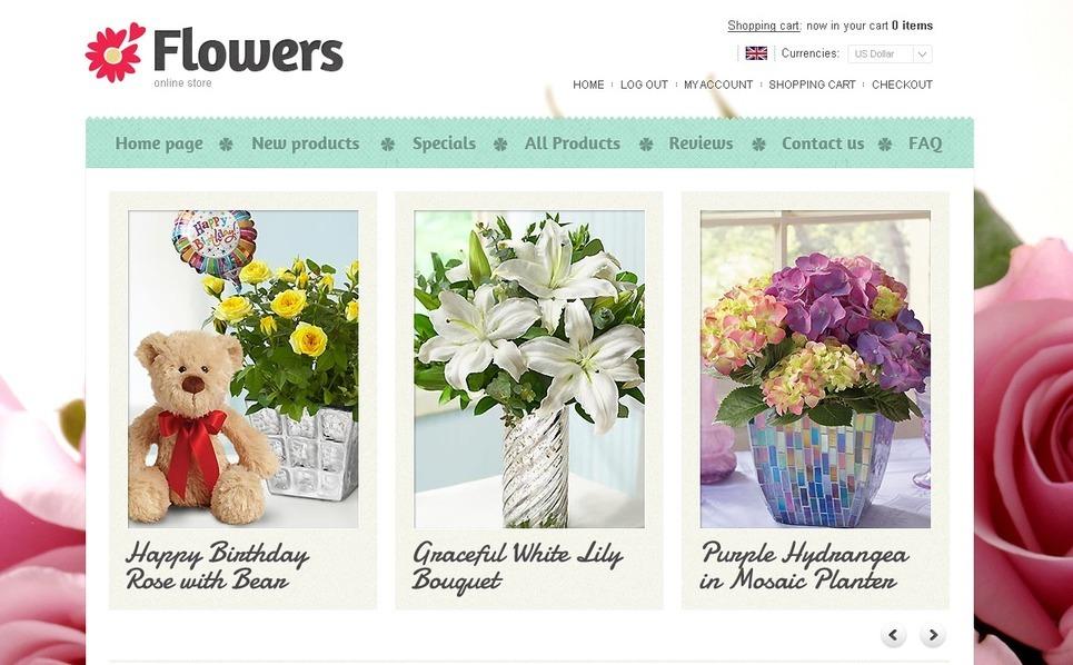 Flowers ZenCart Template New Screenshots BIG