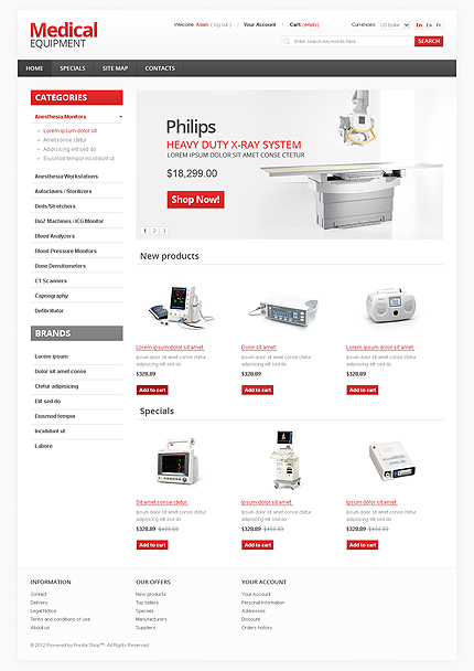 Medical equipment - Ultimate Online Medical and Pharmacy Store PrestaShop Theme