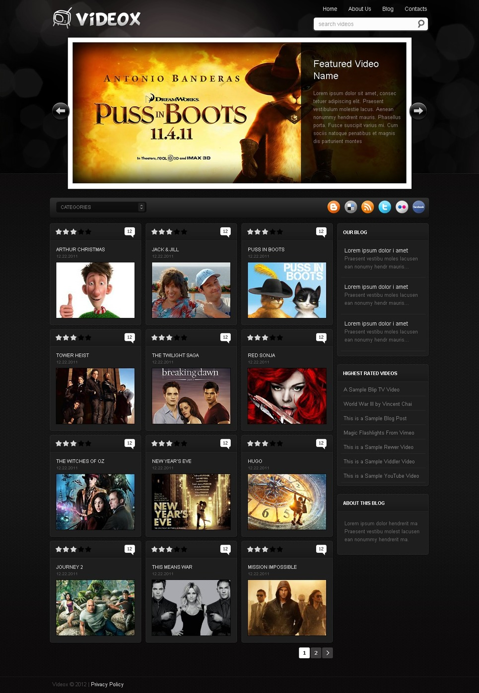 Movie WordPress Theme New Screenshots BIG