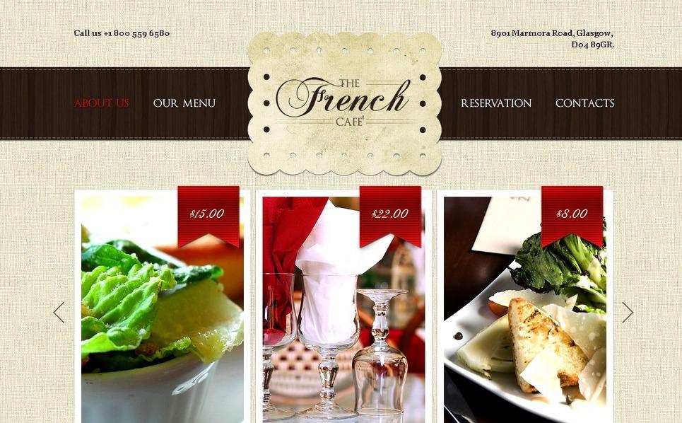 French Restaurant PSD Template New Screenshots BIG