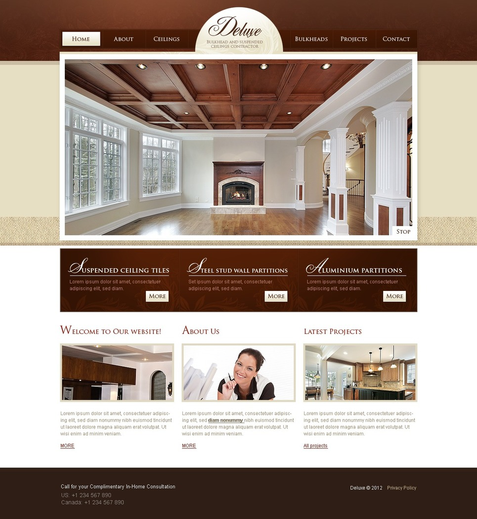 Home remodeling website template web design templates for Home design templates