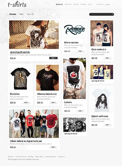 T-shirts - Coolest T-shirts Shop Magento Theme