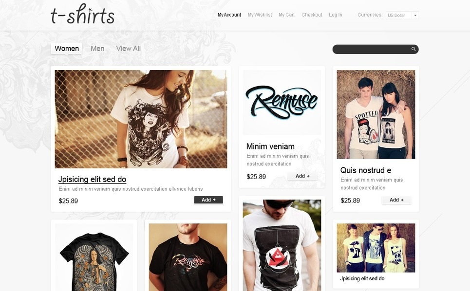 T-shirt Shop Magento Theme New Screenshots BIG