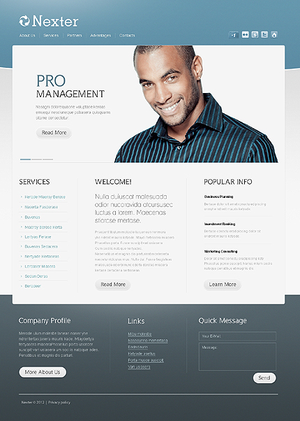 Website Template #37070