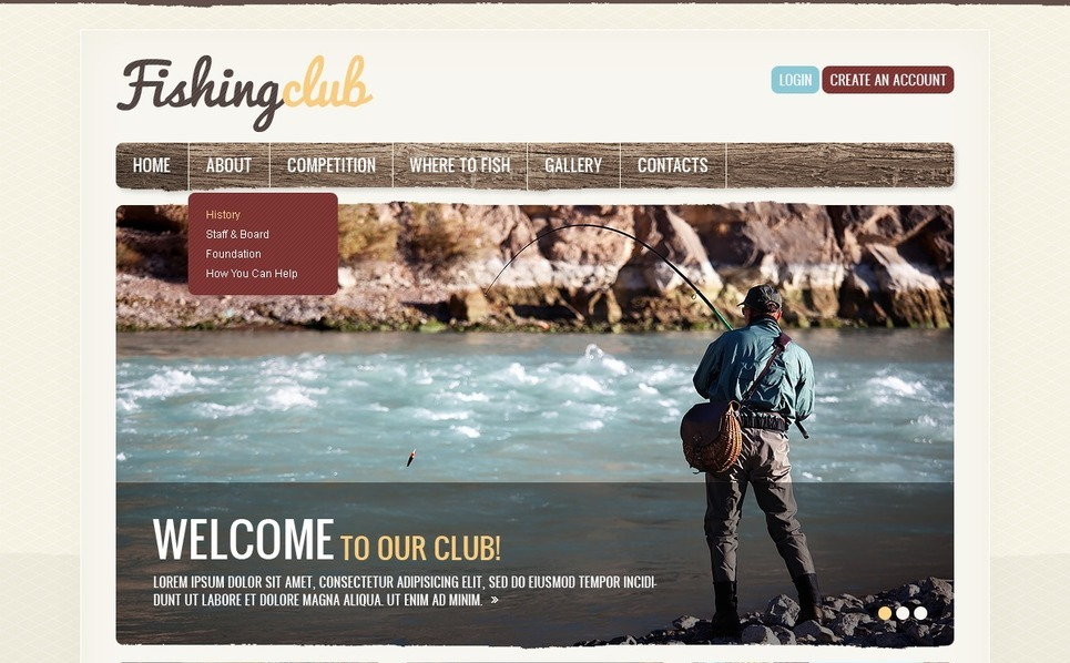 Fishing Website Template New Screenshots BIG