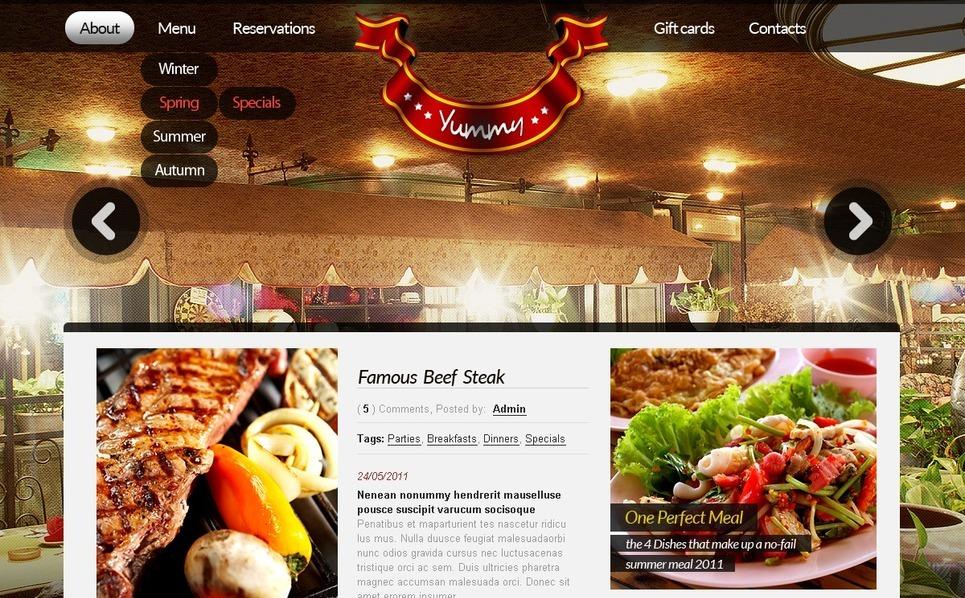 Cafe and Restaurant Website Template New Screenshots BIG