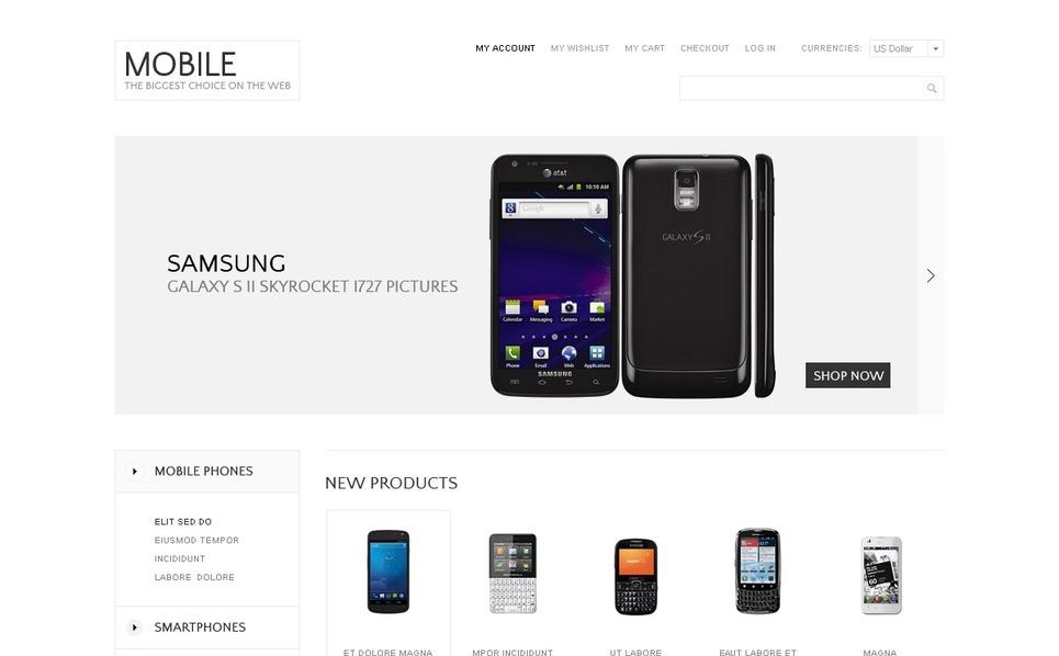 Mobile Store Magento Theme New Screenshots BIG