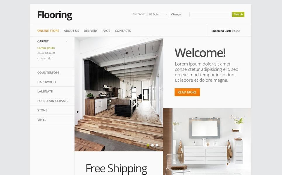 Flooring Store VirtueMart Template New Screenshots BIG