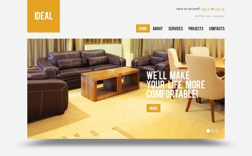 Interior Design Wordpress Theme 37132