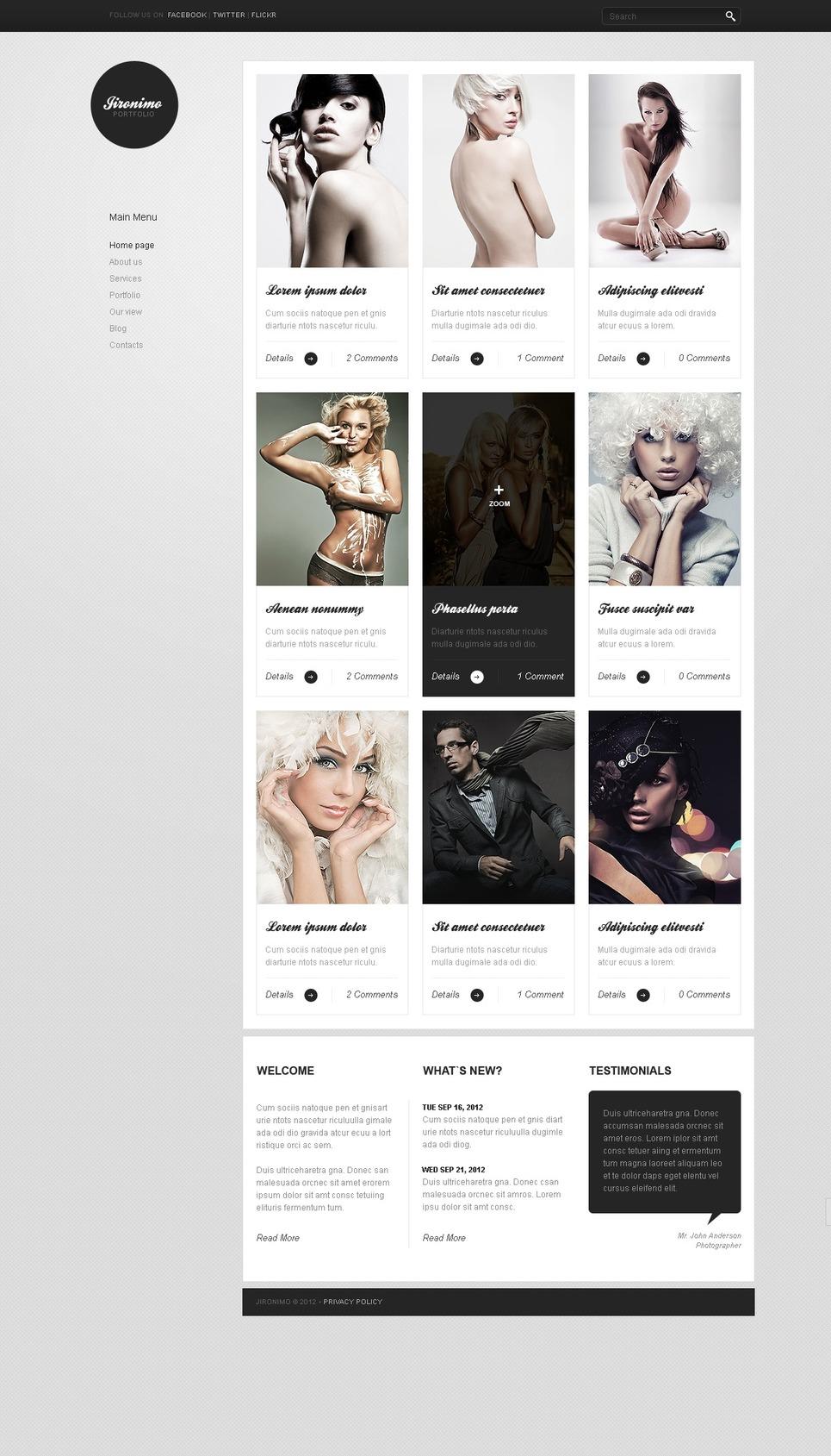 Photo Studio Joomla Template New Screenshots BIG