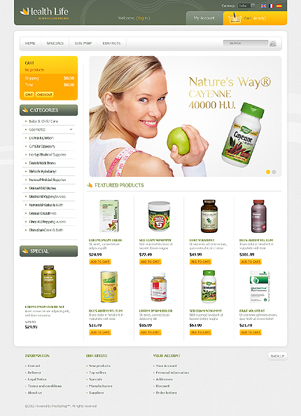 Health life - Healthy Life Products Online Medical Store PrestaShop Theme