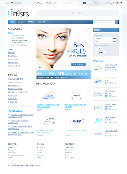 Contact lenses - Best Contact Lenses Store PrestaShop Theme