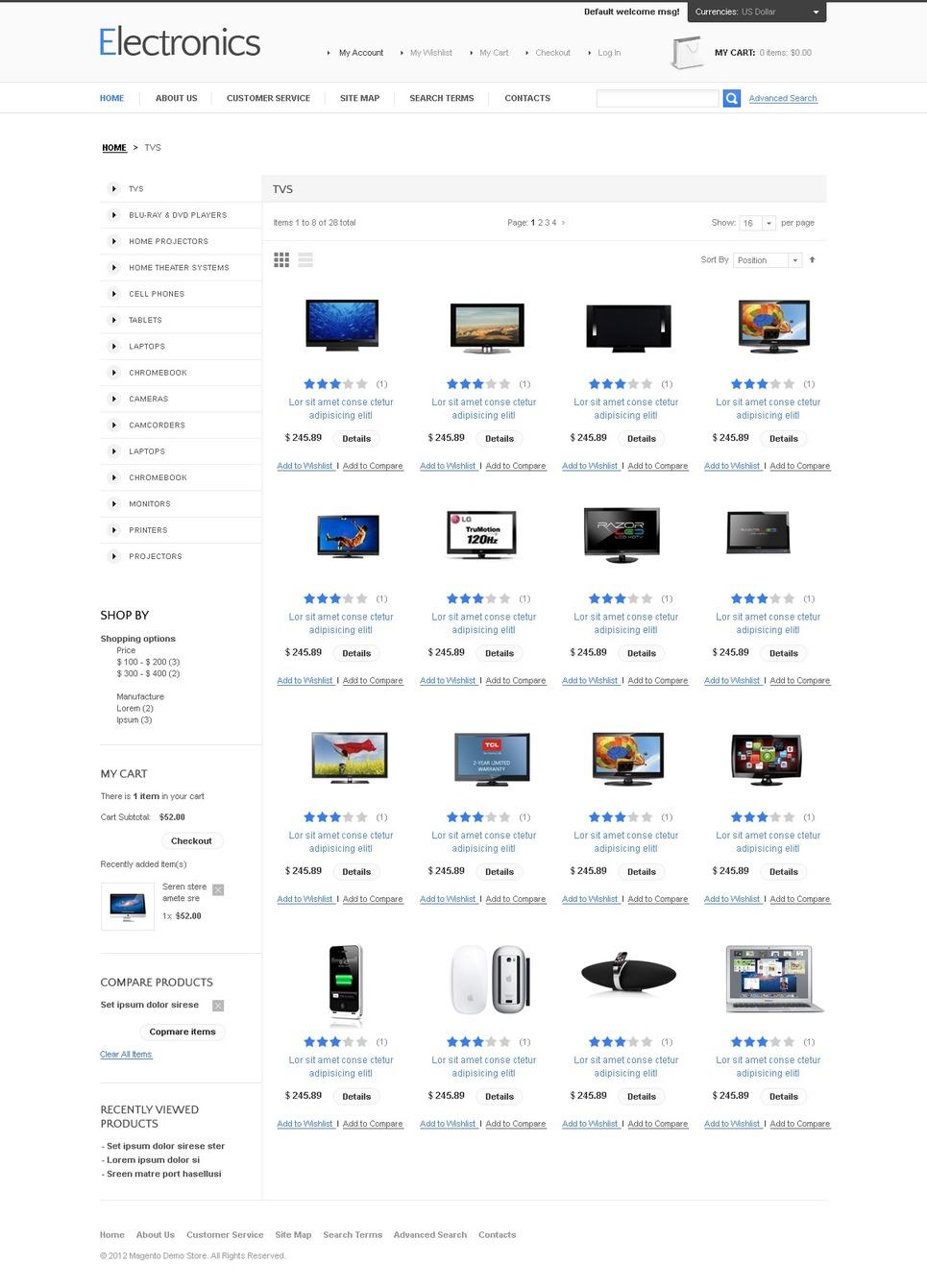 Unique Electronics Store Magento Theme