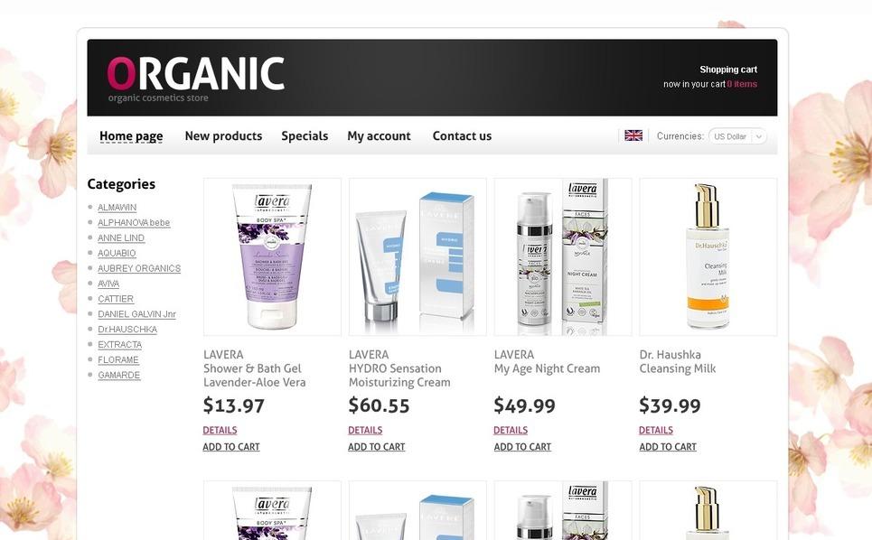 Cosmetics Store OsCommerce Template New Screenshots BIG