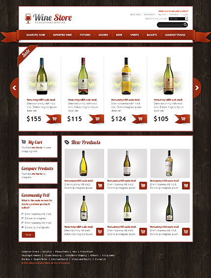 Wine store - Awesome Magento Wine Shop Theme