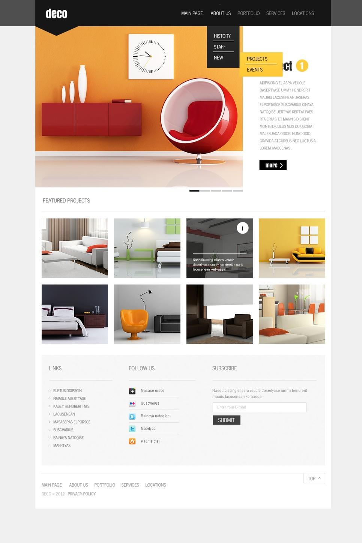 Interior Design Website Template 37253
