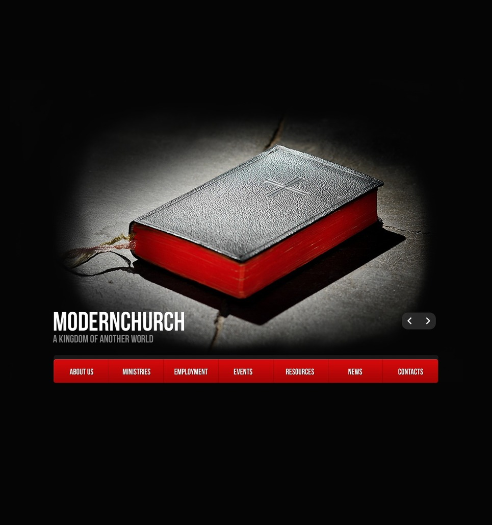 Religious Website Template New Screenshots BIG