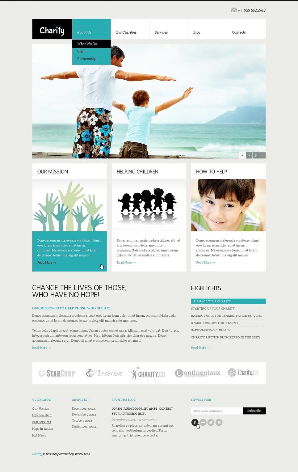 Child Charity WordPress Theme New Screenshots BIG