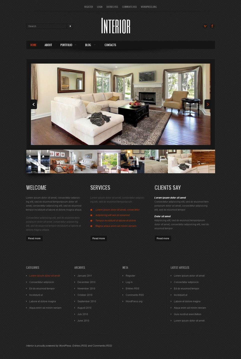Interior Design Wordpress Theme 37306