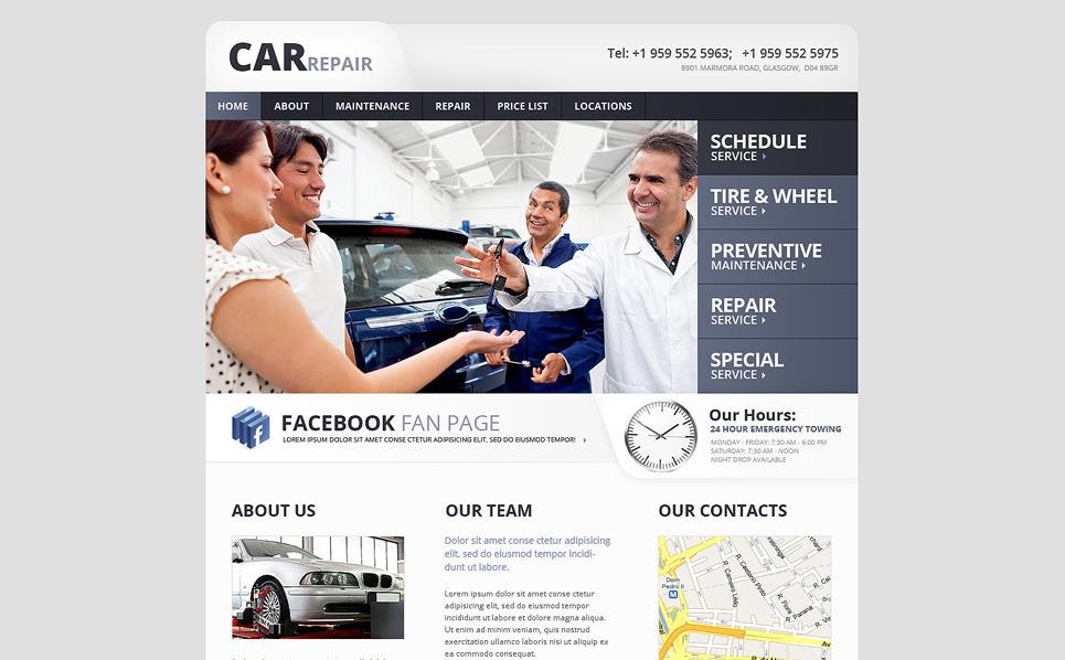 Car Repair Website Template New Screenshots BIG