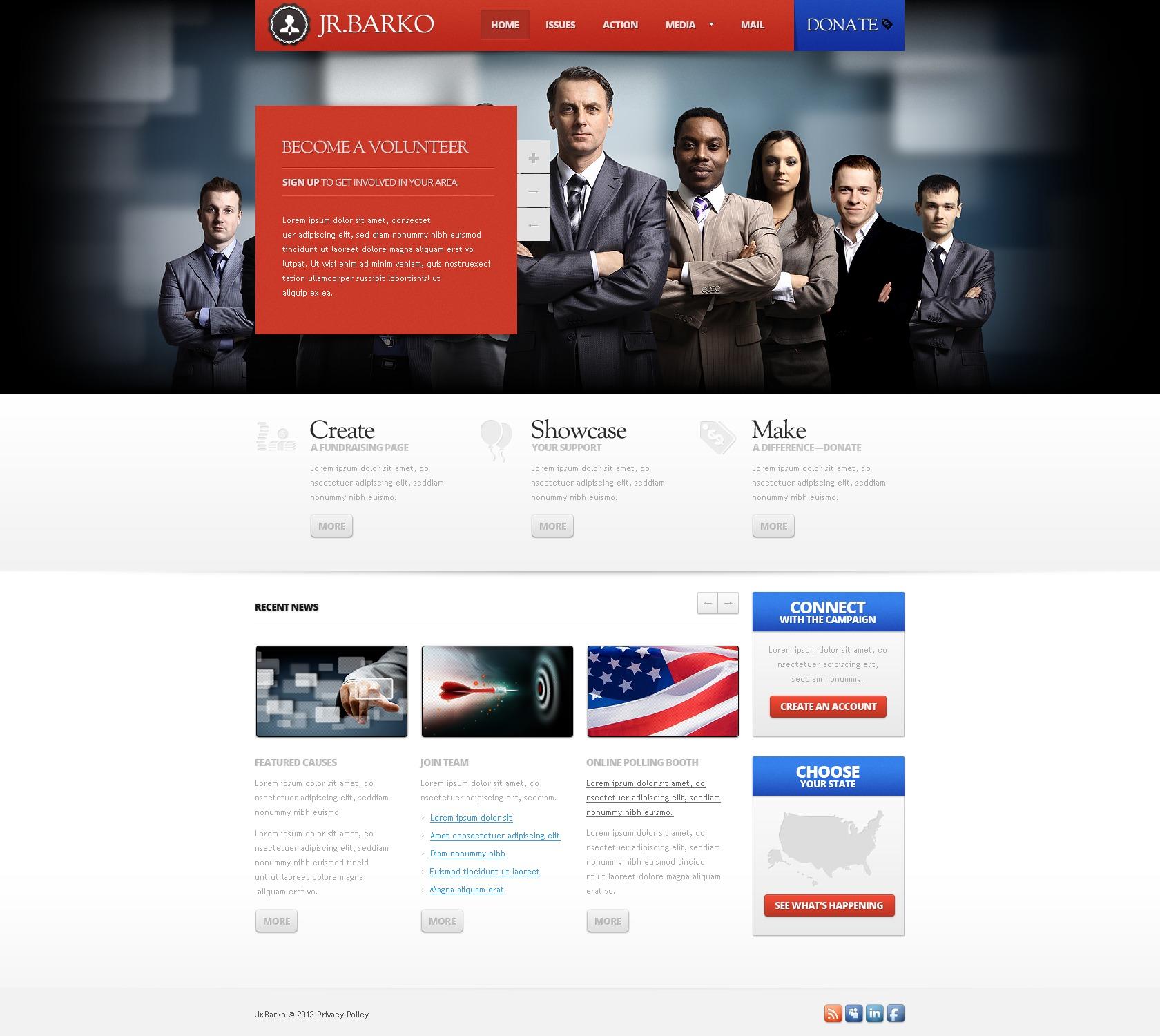 Political Candidate Website Template 37353