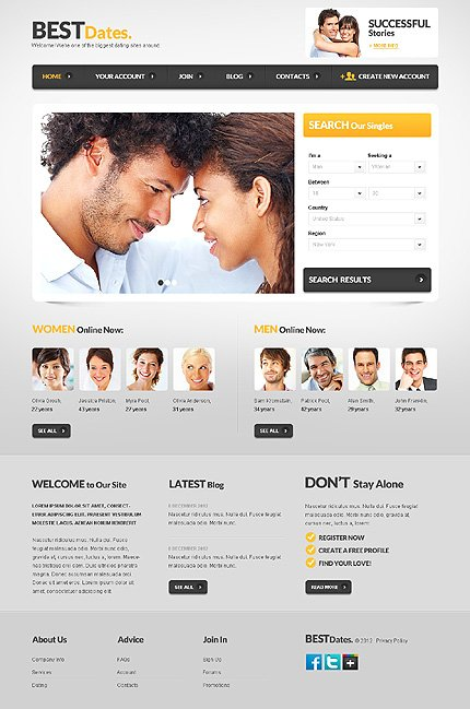 Html5 dating website
