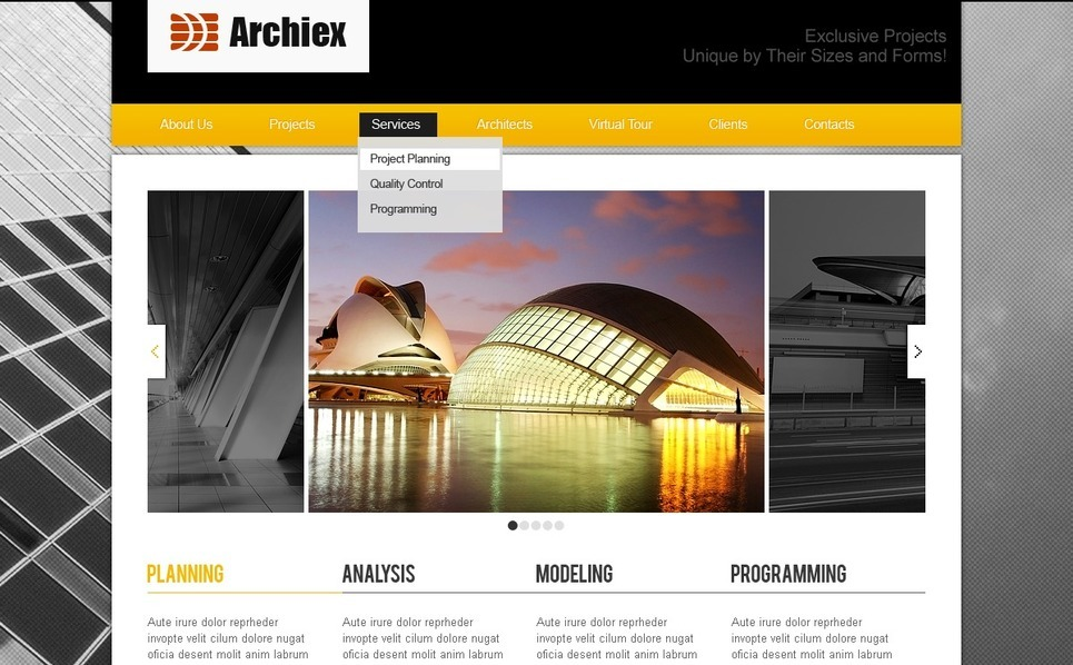 Architecture Website Template New Screenshots BIG