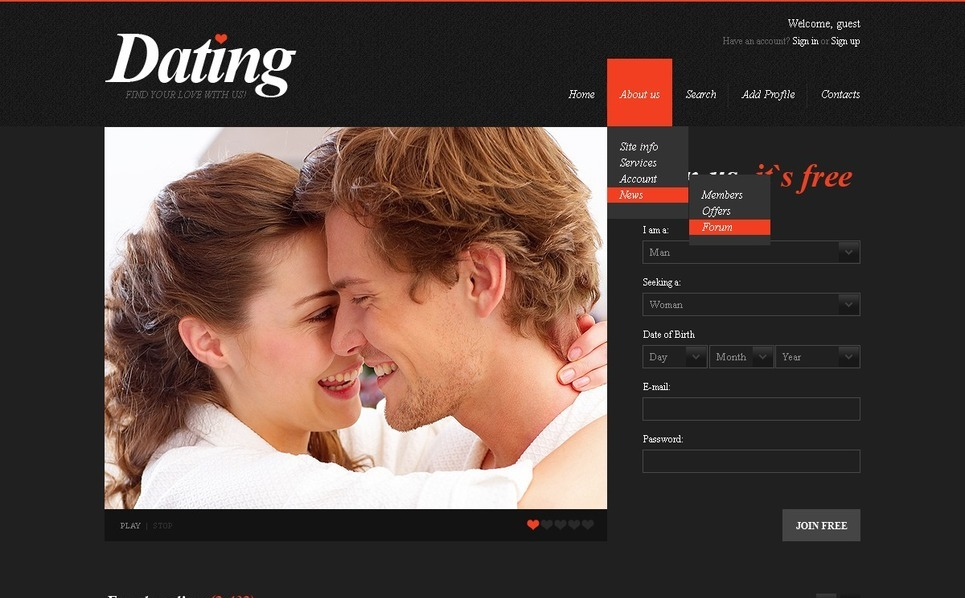 Dating Website Template New Screenshots BIG