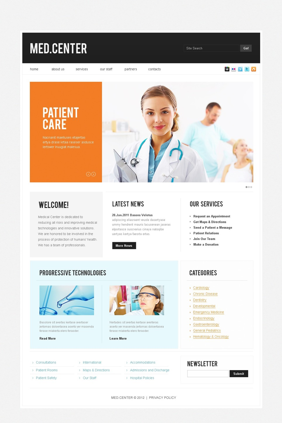 Medical Website Template New Screenshots BIG