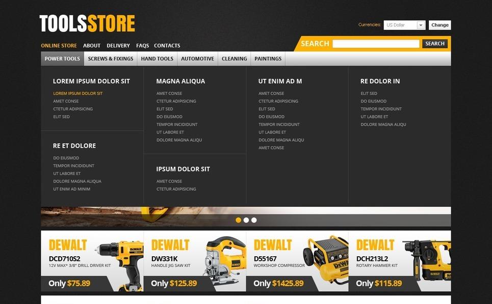 Tools & Equipment VirtueMart Template New Screenshots BIG