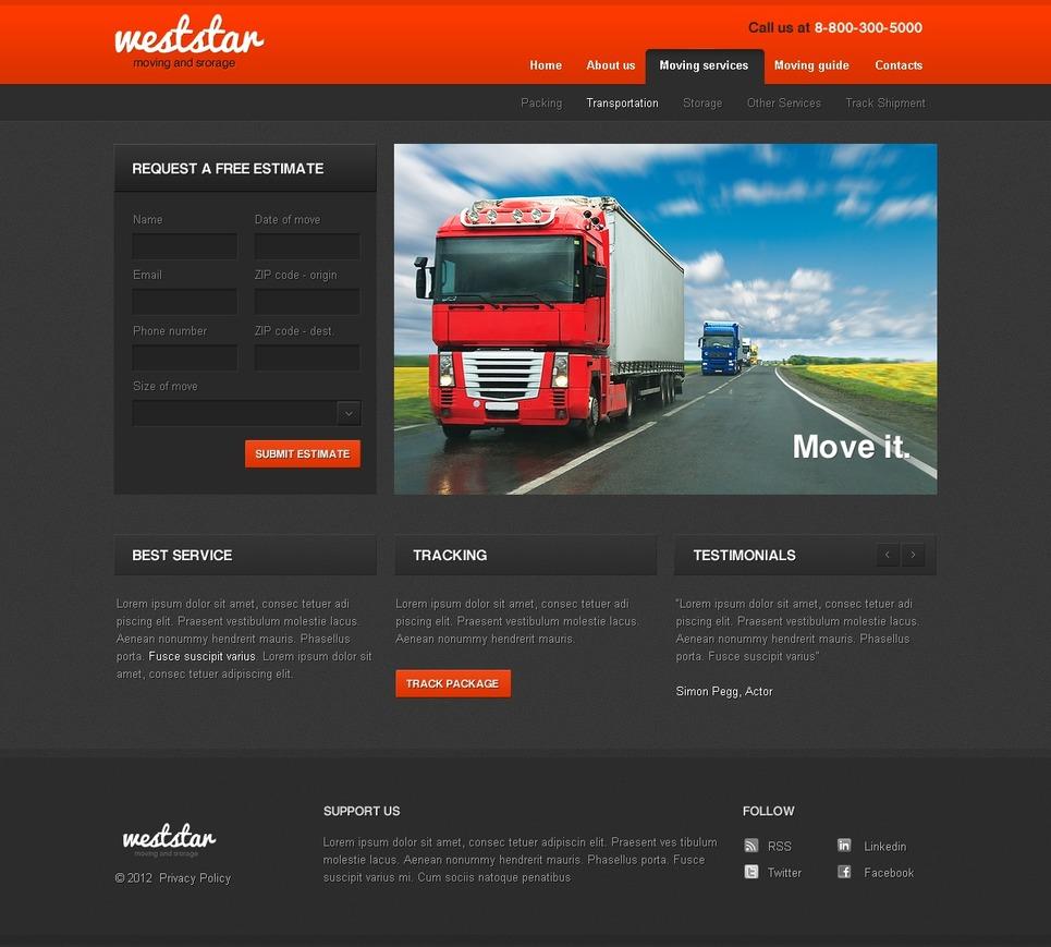 Transportation Website Template New Screenshots BIG