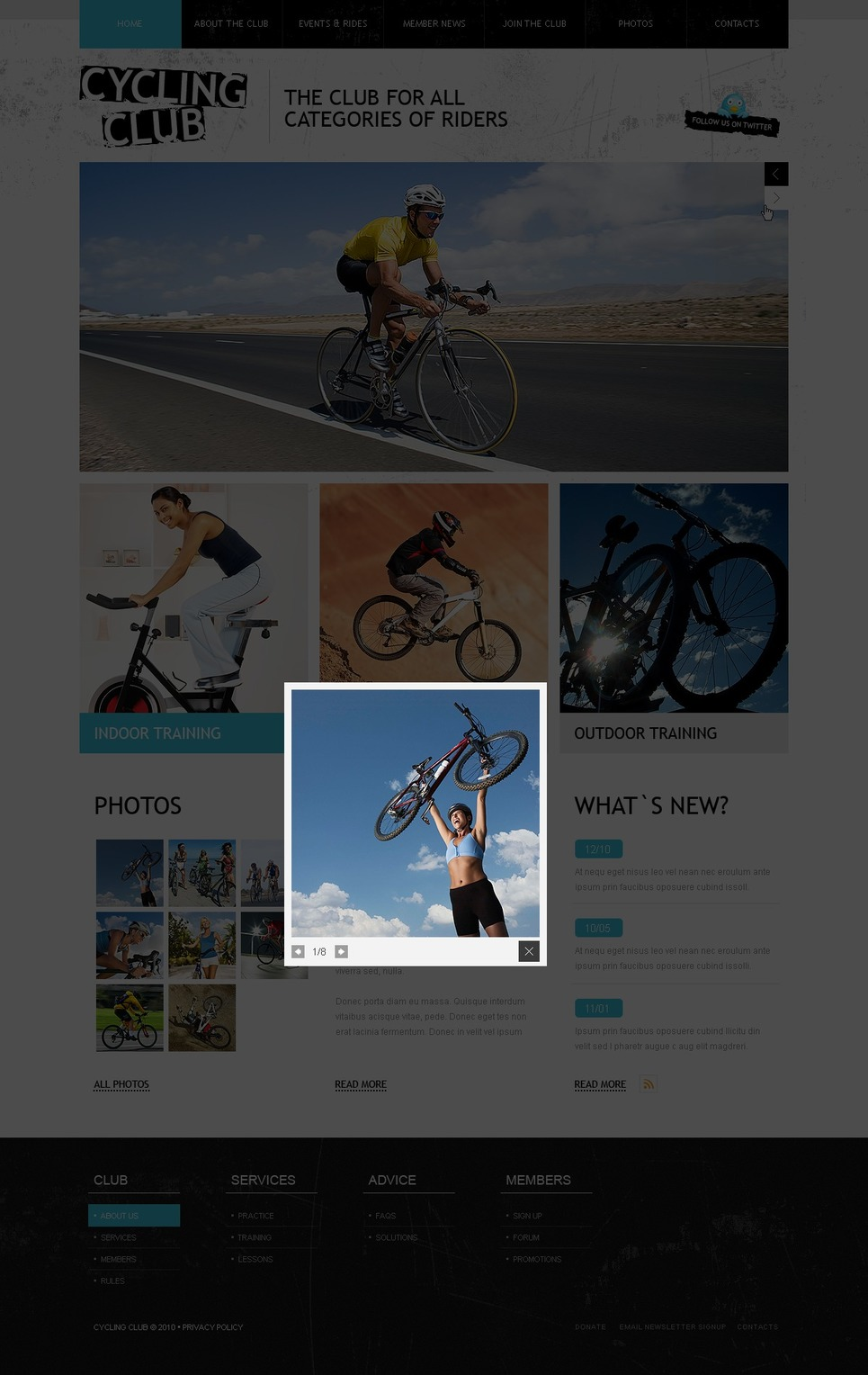Cycling Facebook Flash Template New Screenshots BIG
