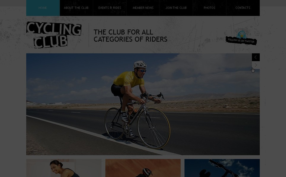 Cycling Facebook Flash Template New Screenshots BIG