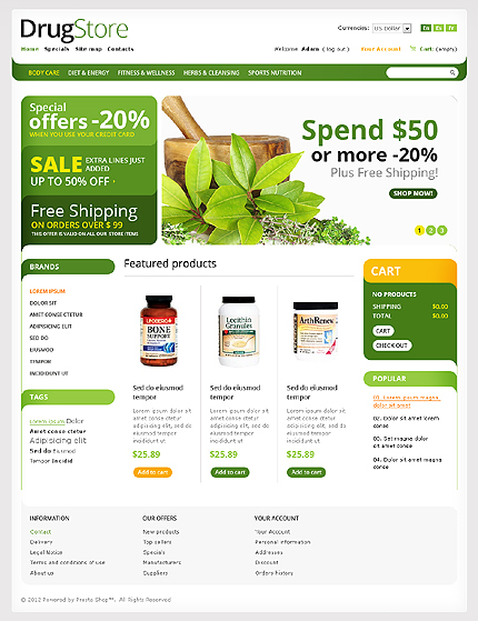 Drug store - WorthWhile Online Drug Store PrestaShop Theme