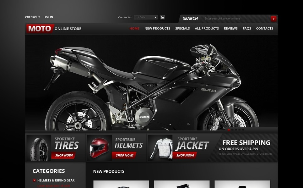 Bike Shop ZenCart Template New Screenshots BIG