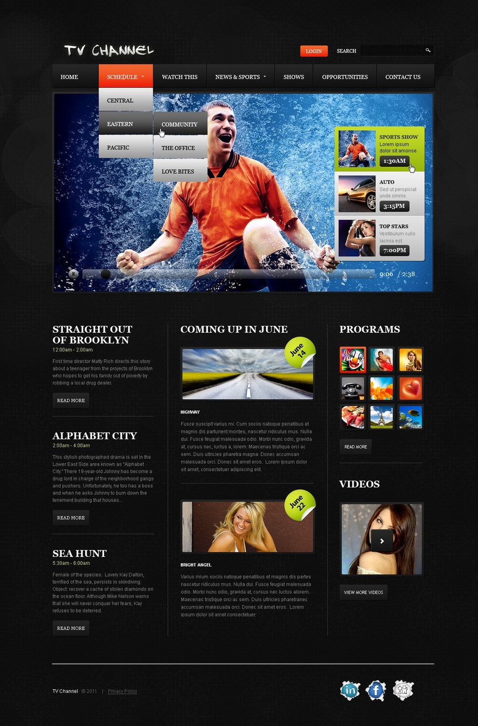 Tv channel website template web design templates website templates download tv channel Home tv channel