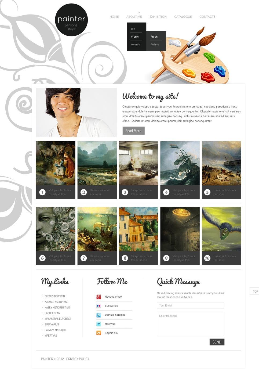 artist portfolio website template web design templates website templates download artist