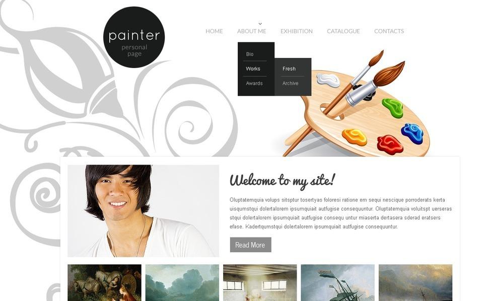 Artist Portfolio Website Template New Screenshots BIG