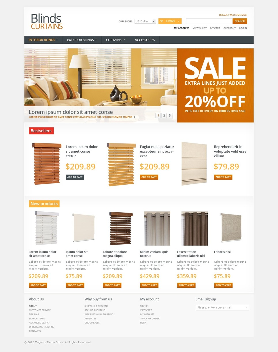 E Commerce Home Decor Template WordPress