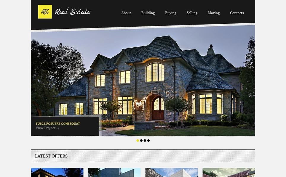 Real Estate Website Template New Screenshots BIG
