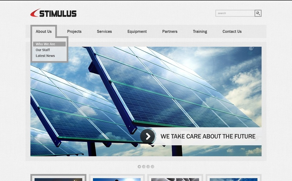 Industrial PSD Template New Screenshots BIG