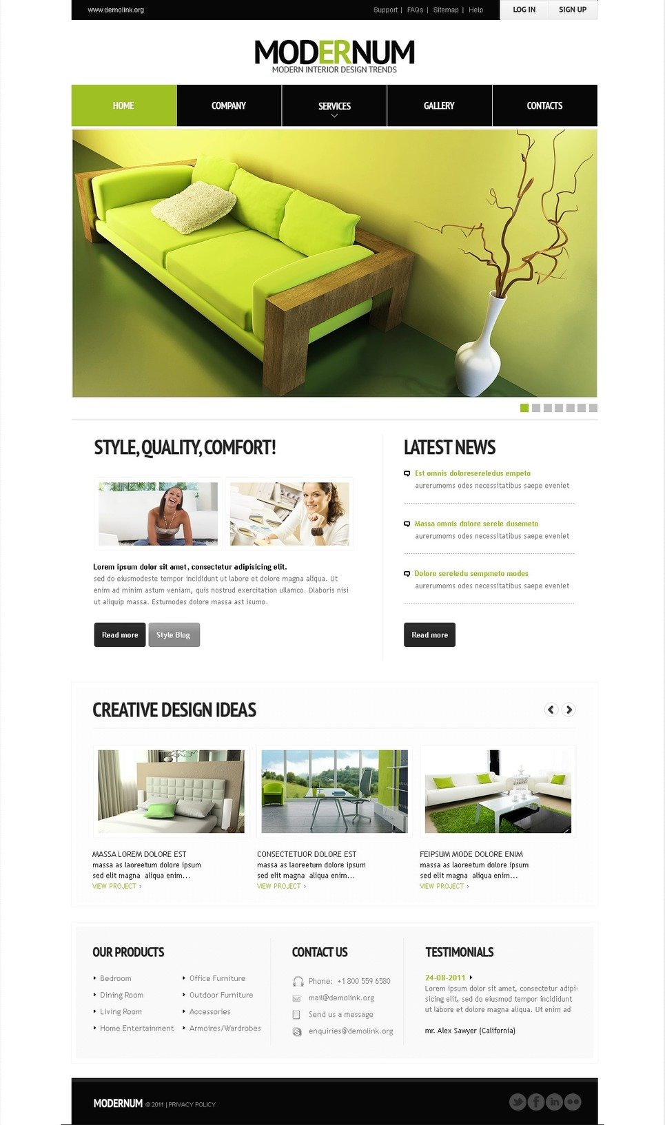 Interior Design Facebook Flash Template New Screenshots BIG