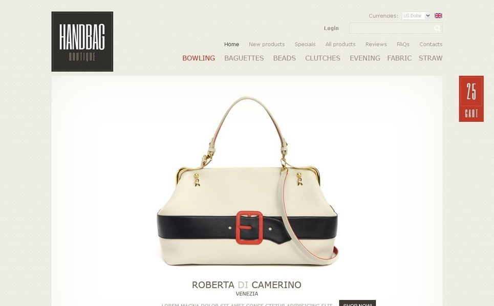 Handbag Facebook Flash Template New Screenshots BIG