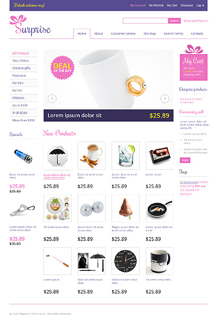 Surprise - Ultimate Gift Shop Magento Theme