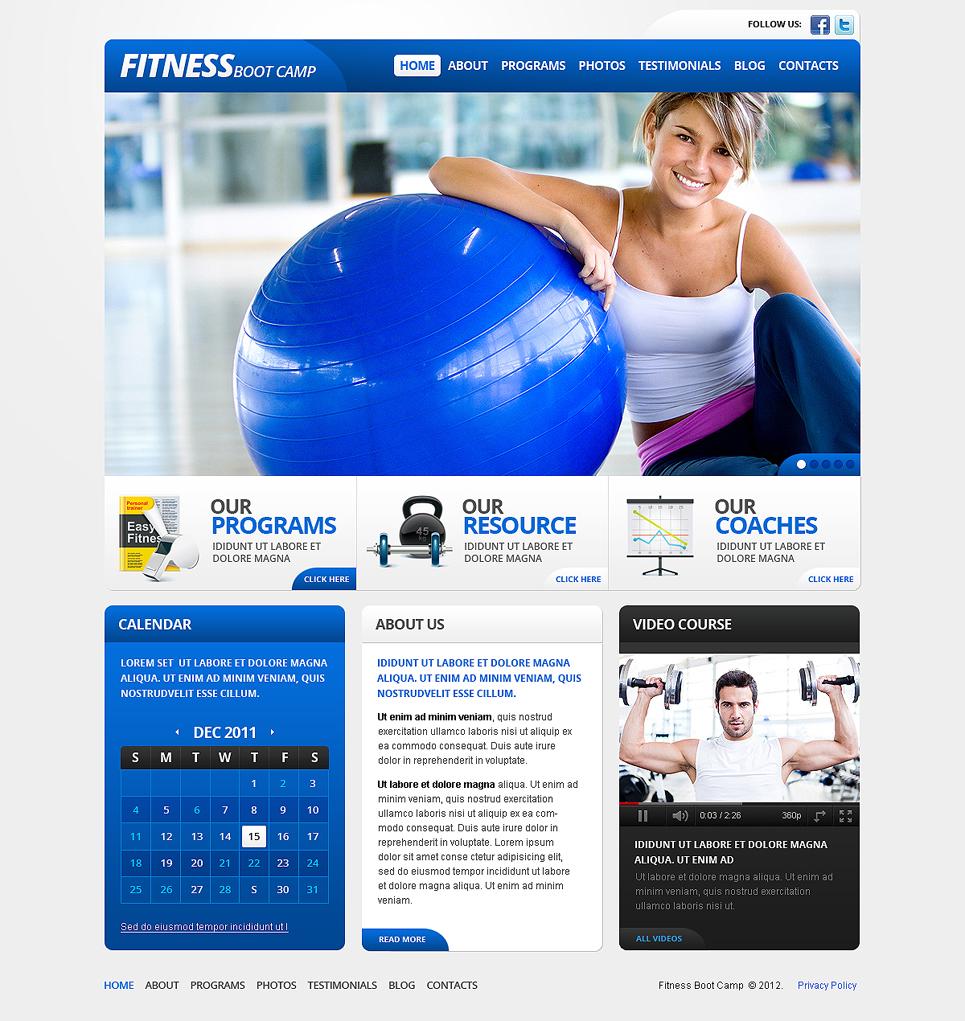 Fitness Website Template New Screenshots BIG