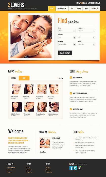 Js Animated Template Html5